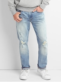 Cone Denim&#174 Distressed Jeans in Slim Fit with GapFlex