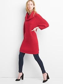 Cozy knit cowlneck dress