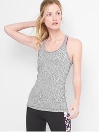 Camisole GapFit en tricot à jacquard à bretelles croisées