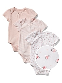 Favorite floral short sleeve bodysuit (3-pack)