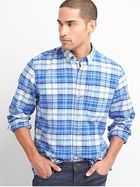 Pattern Oxford Shirt in Stretch