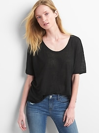 Short Sleeve Linen Volume T-Shirt