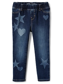 High stretch star heart jeggings