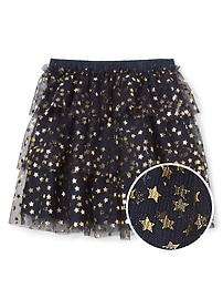 Starry tiered flippy skirt