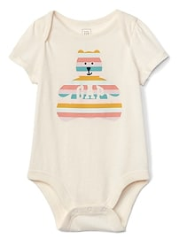 Stripe bear bodysuit