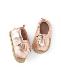 Sandales métalliques de style mocassins