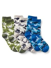 Chaussettes à imprimé camouflage
