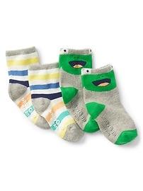 Graphic Crew Socks (2-Pairs)