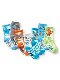 Sea Creature Days-of-the-Week Crew Socks (7-Pairs)
