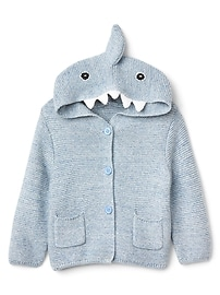 Pull en point mousse à motif de requin