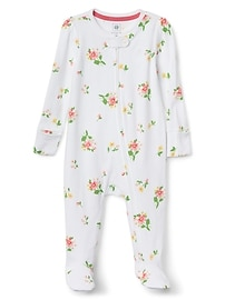 Favorite Floral Footed Zip One-Piece