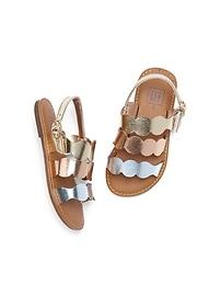 Sandales à sangles métalliques
