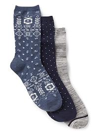Chaussettes à motifs (paquet de 3)