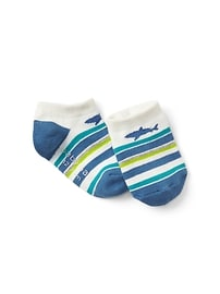 Graphic Stripe No-Show Socks