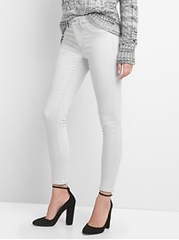 Mid Rise Favorite Jeggings in Light Grey with Brushed Lining
