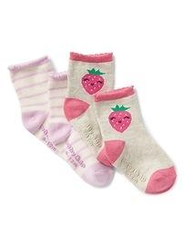 Chaussettes à motifs de fraises (paquet de 2)
