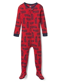 Firetruck Footed One-Piece