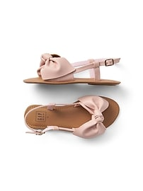 Faux Leather Bow Sandals