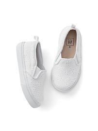 Eyelet Slip-On Sneakers
