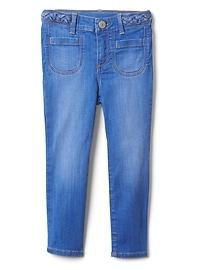 Superdenim Braid-Belt Skinny Jeans with Fantastiflex