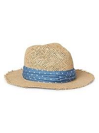 Chambray Panama Hat