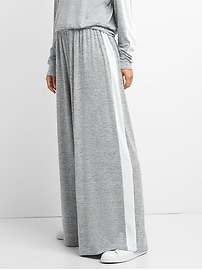 Extra-Wide Leg Softspun Pants with Side Stripe
