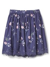 Floral Eyelet Flippy Skirt