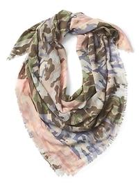 Écharpe rectangulaire à imprimé camouflage
