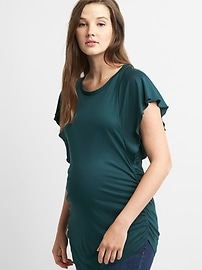 Maternity Flutter Sleeve Top