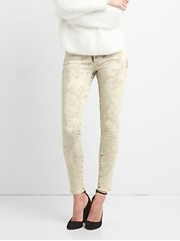 Mid Rise True Skinny Jeans in Acid Wash