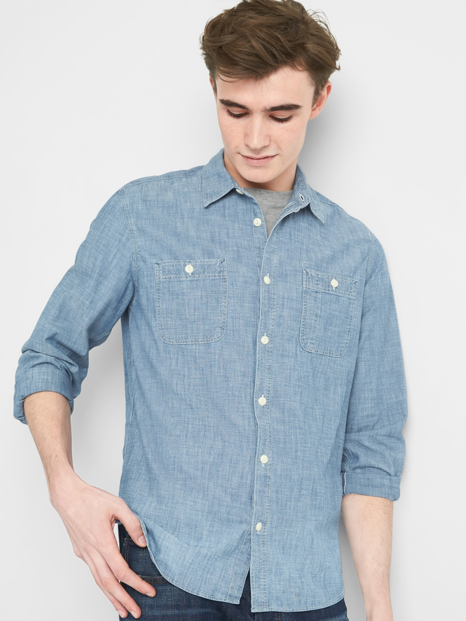 c1699131806 Icon Chambray Worker Shirt