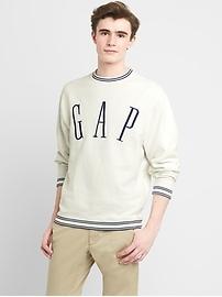 Oversize Logo Crewneck Pullover Sweatshirt