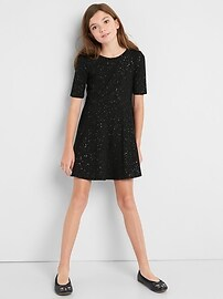 Glitter Fit and Flare Dress