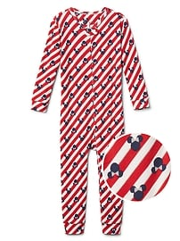 babyGap &#124 Disney Baby Minnie Mouse candy cane sleep one-piece