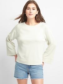 Bell Sleeve Pullover Crewneck Sweatshirt
