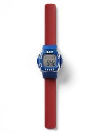 Snap wrist sport watch