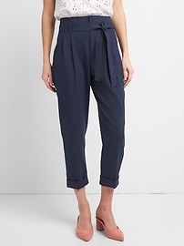 High Rise Pleated Waist Trousers