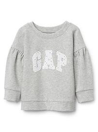 Balloon Sleeve Logo Sweatshirt