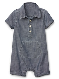 Shorty One-Piece in Chambray