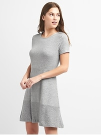 Ribbed Softspun Short Sleeve Dress