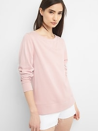 Lace-Up Back Pullover Sweatshirt