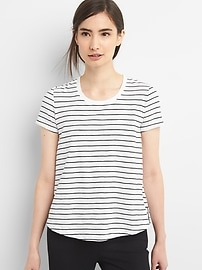 Stripe Swing Crewneck T-Shirt