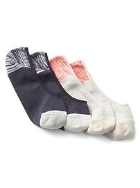 Chaussettes basses variées (paquet de2)