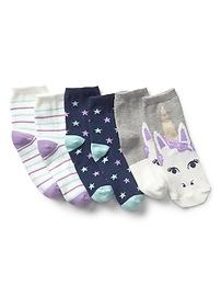 Graphic Crew Socks (3-Pairs)