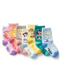 Chaussettes à imprimé des jours de la semaine et à motifs Les Princesses babyGap Disney