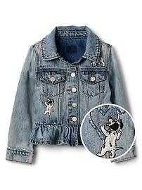 GapKids &#124 Disney Dalmatian denim jacket