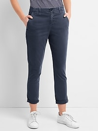Girlfriend Twill Stripe Chinos in Color