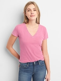 Vintage Short Sleeve V-Neck T-Shirt