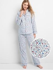 Print Pajama Set in Poplin