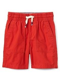 """4"""" Pull-On Poplin Shorts"""